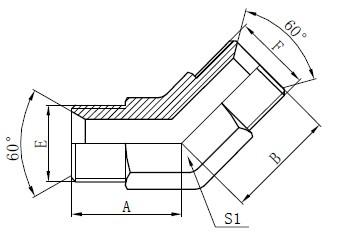 Industrial Tube Fittings Teikning